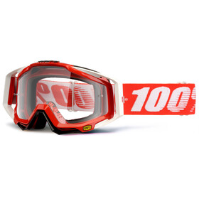 100% Racecraft Anti Fog Clear Goggles fire red